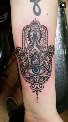 My new tattoo. #hamsa #tattoo #hamsahand #goodluck #happiness