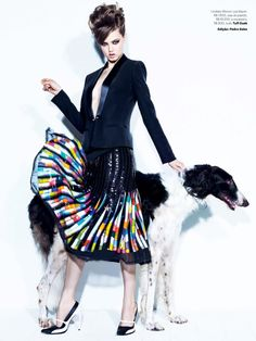 Lindsey Wixson, Vogue Brazil, August 2013