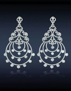 Chandelier earrings drop dangle solid 925 sterling silver jewelry new handmade #Handmade #DropDangle #Wedding