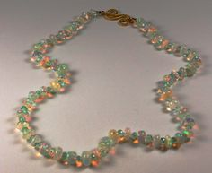 Ethiopian Opals with Emeralds