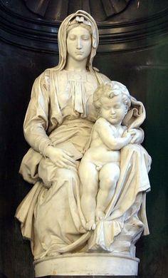 Michelangelo (Buonarroti) (1475-1564) - Madonna and child (1504)