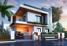 TOP 50 Front Elevation Designs for Double floor house 😍 2 Floor House Elevation Modern Bungalow Exterior, Modern Exterior House Designs, Modern Bungalow House, Modern House Design, House Outside Design, House Front Design, Cladding Design, House Architecture Styles, Home Building Design