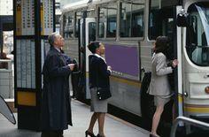 On public transportation.