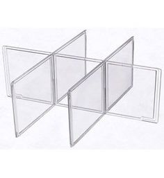 CLEAR SHIRT OR ACCESSORY DRAWER DIVIDER