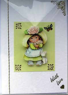 HandCrafted 3D Decoupage Card  With Love 1652 by SunnyCrystals, £1.35
