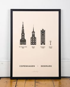 Copenhagen Screenprint poster