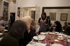 Halal Gems founder Zohra Khaku with guests