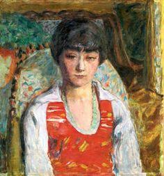 PIERRE BONNARD / Portrait De Jeune Fille (Vivette Terrasse)