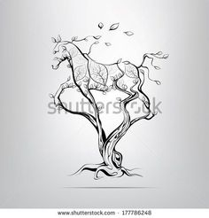 Find Silhouette Running Horse Tree Vector Illustration stock images in HD and millions of other royalty-free stock photos, illustrations and vectors in the Shutterstock collection. Painted Horses, Silhouette Tattoos, Horse Silhouette, Horse Drawings, Art Drawings, Horse Tattoo Design, Natur Tattoos, Tree Tattoo Designs, Tattoo Tree