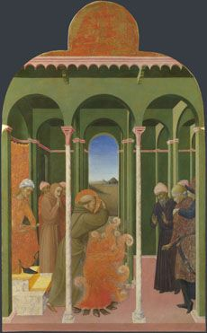 Sassetta: 'Saint Francis before the Sultan'