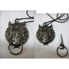 Dragon Head,with Nose ring, HIdden necklace Knife - Secret Knife Gold Jewelry, Jewelery, Jewelry Accessories, Jewelry Necklaces, Jewelry Design, Ring Necklace, Hidden Knives, Hidden Weapons, Hidden Blade