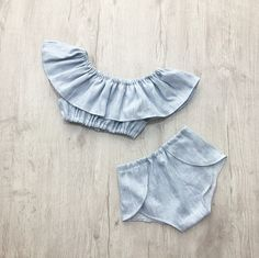 The must have for this summer! Beautiful Stella set of shorts and matching off the shoulder style crop top is perfect for summer. The elastic are very flexible so your baby will not be compressed. The design was created by me and exclusive only to Miss Lyla!