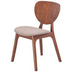 Cadeira Ingrid Madeira S/ Bracos Linho - Americanas.com