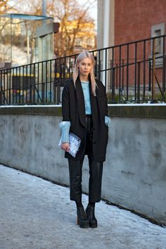 An icy shot of blue gives classic black some nordic chic. Photo by The Locals