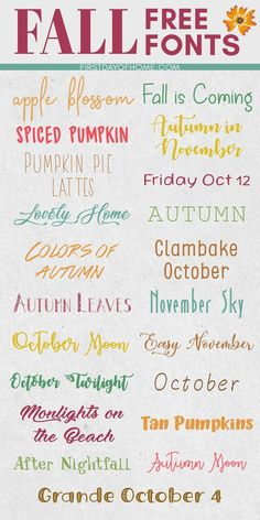 Get in the fall spirit with these free fonts for fall! These are perfect for any graphic design or printable project. I personally love using them for my Cricut and Cameo designs! #cricut #cameo #freefonts #fallfonts #firstdayofhome