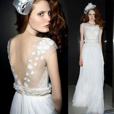 Lk24 Women Beige White Lace Evening Long Dress Gown Wedding Bride Bridemaid
