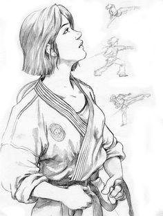 I love all martial arts related things but I train Judo, BJJ, and Kick boxing. Shotokan Karate, Muay Thai, Ju Jitsu, Anatomy Sketches, Karate Girl, Martial Artists, Aikido, Warrior Girl, Kung Fu