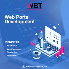 Web Booster Tech is the Best Web Portal Development Company in India offering various services like Mobile App development, Website Development, E-commerce sites Development web designing and digital marketing services for your business growth. Portal, Cost Saving, India, Digital Marketing Services, Latest Technology, Best Web, App Development, Mobile App, Web Design