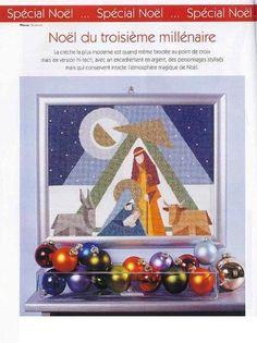 Nativity 1 of 3 Xmas Cross Stitch, Simple Cross Stitch, Cross Stitching, Cross Stitch Embroidery, Nativity Ornaments, Christmas Nativity, Christmas Cross, Christmas Ornaments, Nativity Sets