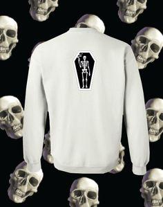 Smoking Death Crewneck on White (Back) |  #Skull #Bones #Black #Tshirt #Clothing #Hoodie #CoolClothing #Crewneck #ForSale #OnSale #Bones #Smoking #Death #Style #MensFashion