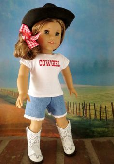 Jane Carroll Designs. fine me on facebook and etsy. Ag Dolls, Girl Dolls, Rodeo Time, Ag Doll Clothes, Granddaughters, Hello Dolly, 18 Inch Doll, Cowgirls, Grandkids