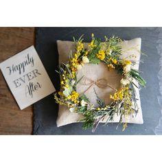 mimosa ring pillow:ミモザリースのリングピロー | ハンドメイドマーケット minne