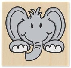 Ellie Elephant - Rubber Stamps