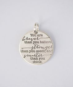 Love this Five Little Birds Sterling Silver 'You Are Braver' Charm by Five Little Birds on #zulily! #zulilyfinds