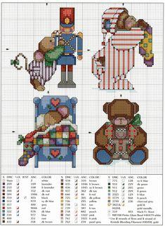 Schema punto croce Decorazione 4d