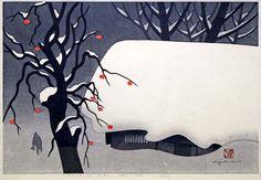 Kiyoshi Saito (Japanese, 1907-1997).    Winter in Aizu (50)               Elizabeth Keightley BB&T  &.  Margo Teeter disappeared saw it