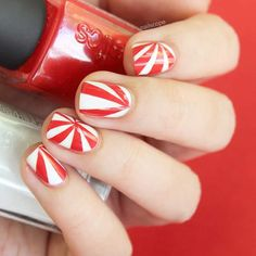 Candied- Psychedelic Candy Stripes Nail Art