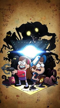 gravity falls disney cartoons comics mystery dipper pines mabel wendy eye of providence journals journal 2 the shack vintage bill cipher pocket cute chibi soos Gravity Falls Dipper, Art Gravity Falls, Gravity Falls Poster, Fall Wallpaper, Iphone Wallpaper, Monster Falls, Fall Tv Shows, Gavity Falls, Desenhos Gravity Falls