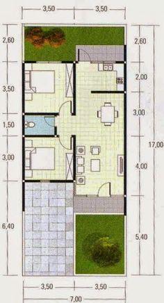 Denah Rumah Minimalis Type 60 #shedplans House Layout Design, Design Your Dream House, Small House Design, House Layouts, Little House Plans, Small House Plans, Craftsman House Plans, Country House Plans, Minimalist House Design
