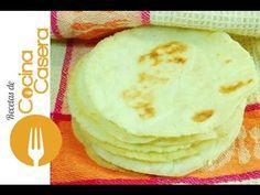 Tortillas de maíz fáciles. Receta tradicional y Vídeo | Recetas de Cocina Casera - Recetas fáciles y sencillas
