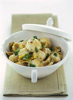 Gnocchetti di ricotta con salsa ai carciofi - Ricotta gnocchi with an artichoke sauce