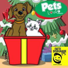 #PetsLove #1 Questo #Natale adotta un Cucciolo!!! #Pets #Love #GiuseppeLombardi #FattiDisegnare