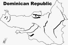 A funny map of Dominican Republic