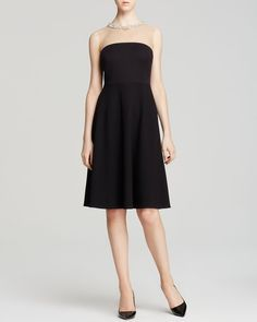Bailey 44 Dress - Diamond Stroll Embellished Illusion Neck from Bloomingdale's on Catalog Spree
