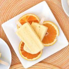 So creamy and dreamy! Orange Mango Kefir Creamsicle