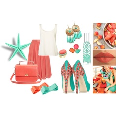 coral and turquoise, possible rehearsal dinner outfit?!
