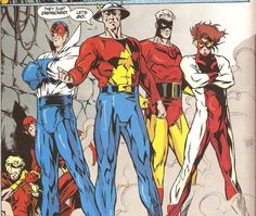 Jesse Quick, Flash (Wally West), Max Mercury, Flash (Jay Garrick) Johnny Quick and Impulse