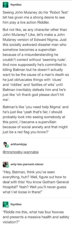 john mulaney comedian as a villain Tumblr Stuff, My Tumblr, Tumblr Funny, Gotham, John Mulaney, Dc Memes, Marvel, Street Smart, Text Posts