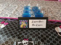 Monster High party food: blue raspberry jello
