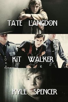 Find images and videos about american horror story, ahs and evan peters on We Heart It - the app to get lost in what you love. Evan Peters, Kyle Spencer, Tate And Violet, Kit Walker, American Horror Story 3, Devious Maids, Hemlock Grove, My Sun And Stars, Horror Show