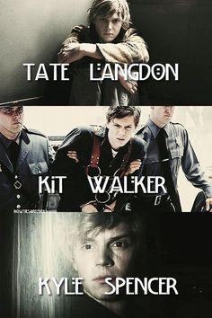 American Horror Story // Tate // Kit // Kyle // Murder House // Asylum // Coven---- My personal fav was Kit
