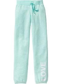 Girls Graphic Sweatpants