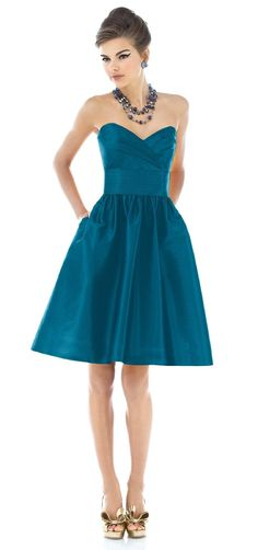 teal bridesmaid dresses.the big selling point here is, POCKETS