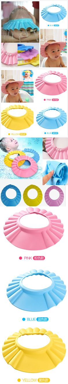2015 Hot Safe Adjustable Baby Hat Soft Baby Shampoo Shower Cap Baby Care Bath Protection Hair Wash For Kid