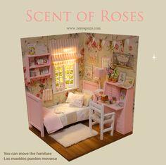 ♥ Custom Handmade Diorama SCENT OF ROSES ♥