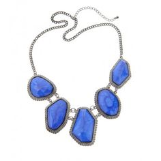 Blue Lagoon Stone Collar Necklace
